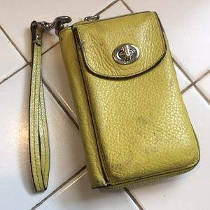 Coach wristlet in used condition